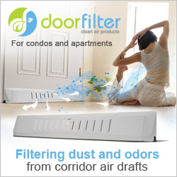DOORFILTER - Reduce Noise, Dust, Light & Allergens from Corridor Pressure.