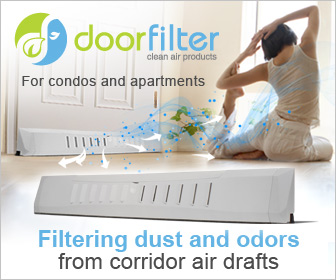 DOORFILTER - Reduce Noise, Dust, Light & Allergens from Corridor Pressure.